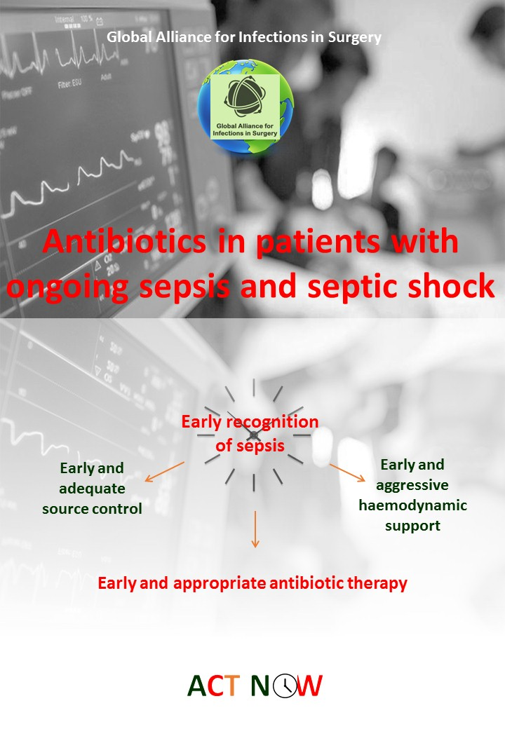 Antibiotics therapy in patients with ongoing sepsis